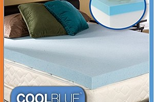 cool blue memory foam topper optional cover